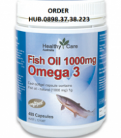 Distributor Vitamin Healthy Care Fish Oil 1000mg 400 Capsules Minyak Ikan Australia